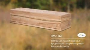 ECO kist van massief iepenhout