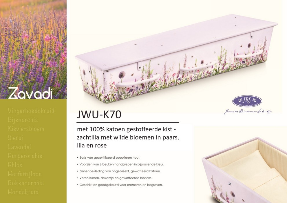 Katoen gestoffeerde kist met bloemenpatroon Janneke Brinkman